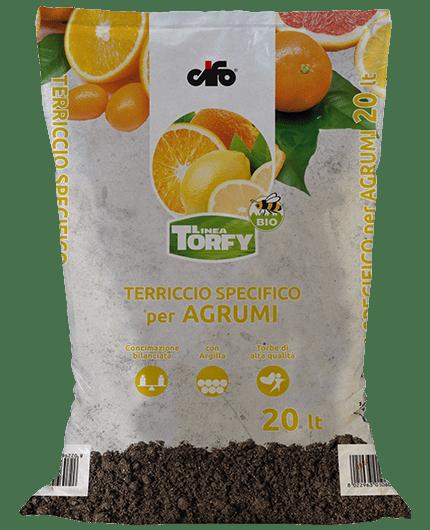 Torfy terriccio agrumi cifo for Terriccio per limoni in vaso